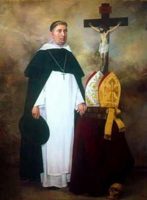 Pintura que se ha colocado sobre su sepulcro en el Santuario de Guadalupe.