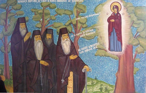 Aparición de la Virgen a San José y sus discípulos en el roble.