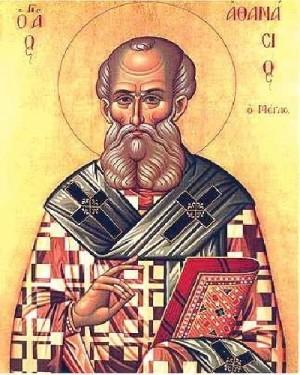 Icono ortodoxo que representa a San Atanasio de Alejandría.