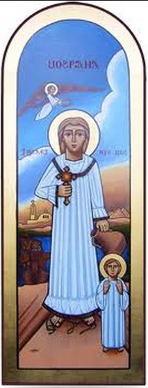 Otra variante del conocido icono de la Santa.
