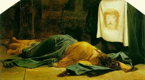 Lienzo de la Santa, obra de Hyppolite Paul Delaroche (1856). Museo Nacional del Louvre, París (Francia).