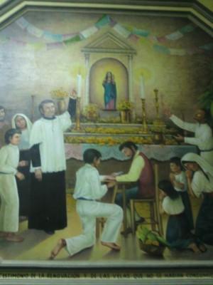 Mural que representa la redacción de la Auténtica.