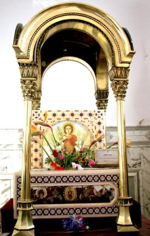 Reliquias de San Menas en el monasterio de Mariut  (Egipto).