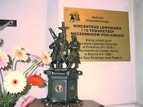 Detalle de un relicario de los mártires colocado sobre su sepulcro en Pratulin.