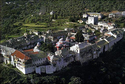 Monasterio Megisti Laura (Gran Laura).  Monte Athos, Grecia.