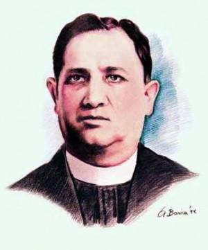 Estampa contemporánea del Santo basada en un retrato suyo.