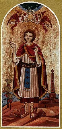 Icono copto del Santo.