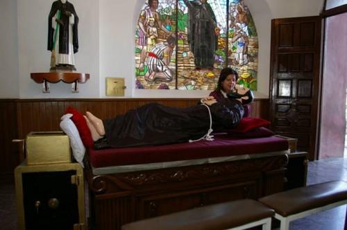 """Imagen de """"San Francisco"""" venerada en Magdalena de Kino, la cual es centro de la curiosa devoción a los tres Franciscos."""