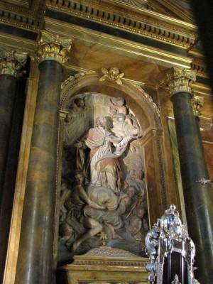 Altar de San Eufrasio en la catedral de Jaén, España.