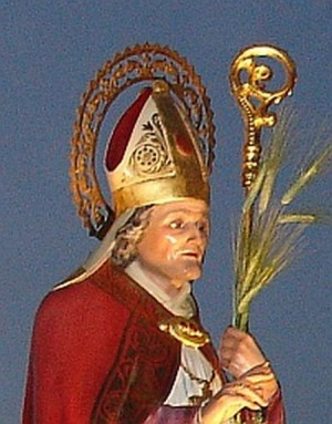 Imagen de San Hesiquio venerada en la iglesia de Cazorla (España).