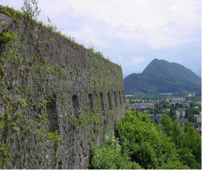 Vista de la fortaleza de Kufstein, donde estuvieron prisioneros los Santos.