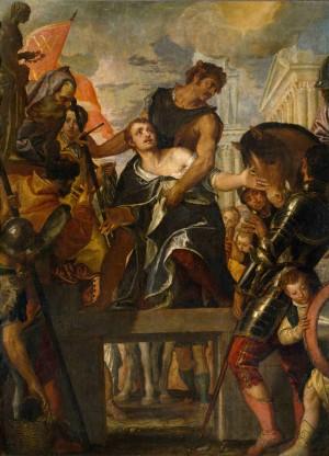 """""""Martirio de San Mena"""", lienzo de Paolo Cagliari """"Il Veronese"""" (1587). Museo Nacional del Prado, Madrid (España)."""