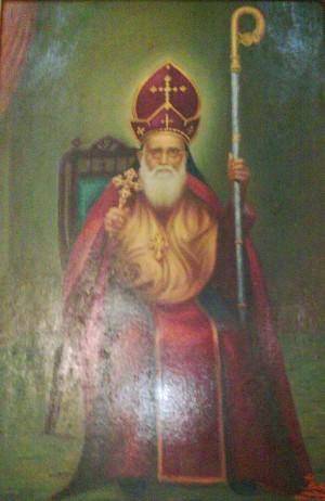 Estampa del metropolita Alvares Mor Yulios Thirumeni.