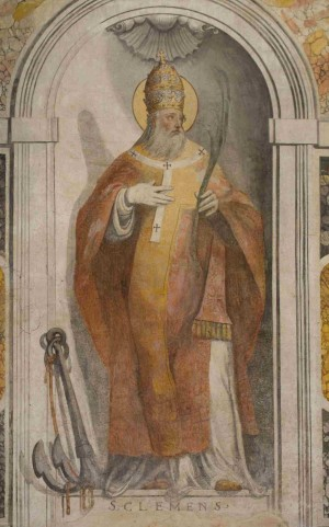 Fresco de San Clemente, papa y mártir.