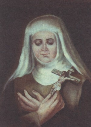 Beata Filomena de San Francisco de Paula Nacida (Ana Ballesta i Gelmà). Pintura de sor Natividad Dávoli basándose en la fotografía de la mártir.