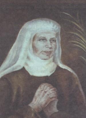 Beata Josefa del Purísimo Corazón de María (Josepa Panyella Domènech).  Pintura de sor Natividad Dávoli basándose en la fotografía de la mártir.