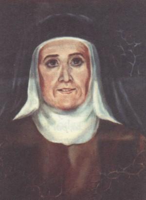 Beata María de Montserrat (Josefa García Solanas).  Pintura de sor Natividad Dávoli basándose en la fotografía de la mártir.