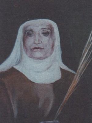 Beata Margarida María Alacoque de San Ramón (Ramona Ors Torrents).  Pintura de sor Natividad Dávoli basándose en la fotografía de la mártir.