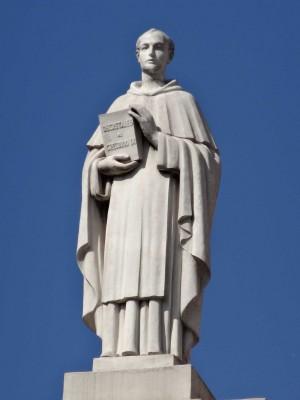 Escultura de Jaume Durán en el Palau Casades.