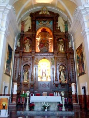 Altar del convento trinitario de Alcázar de San Juan, Ciudad Real (España).
