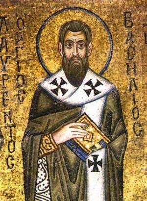 Mosaico bizantino del Santo.
