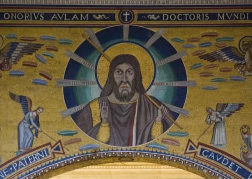 Cristo, resplandor de la luz eterna. Mosaico paleocristiano.