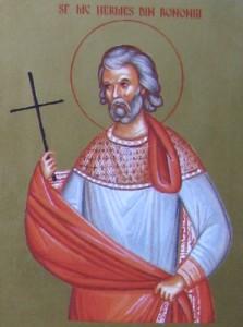 Icono ortodoxo rumano del Santo, pintado por las religiosas del monasterio Deaconesti (Rumanía).