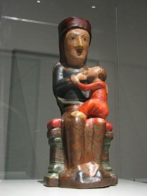 Imagen de la Virgen del Rebollet tras su restauración.