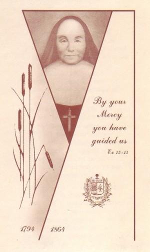 Estampa devocional de la Venerable Rosalía Cadron-Jetté.
