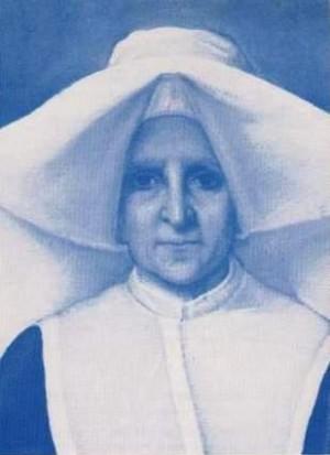 Estampa devocional de la Beata Rosalía Rendu, Hija de la Caridad.