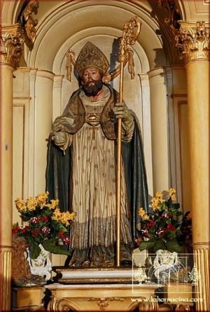 San Crispín, obispo mártir de Écija. Parroquia de la Santa Cruz, Écija (España).  Fuente: www.lahornacina.com