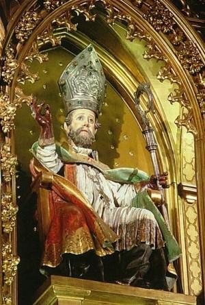 Imagen del Santo en la iglesia de su nombre, en Pamplona (España).