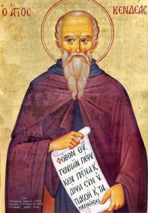 Icono ortodoxo griego del Santo (Chipre).