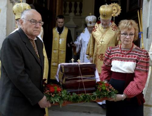 Reliquias del Beato en Lviv (Ucrania).