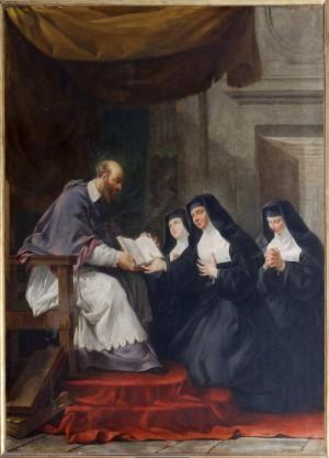 El Santo y las primeras Visitandinas. Anónimo del siglo XVIII. Iglesia de san Luís en L'Ille (Francia).
