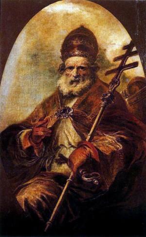 Óleo del Santo, obra de Francisco Herrera el Joven . Museo Nacional del Prado, Madrid (España).