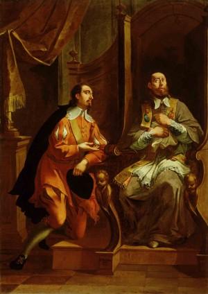 San Francisco confesando, lienzo de Janez Valentín Metzinger, Galería Nacional de Eslovenia.