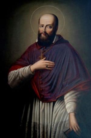 Lienzo-retrato del Santo.