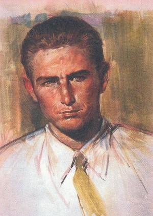 Ilustración del Beato basada en una fotografía suya.
