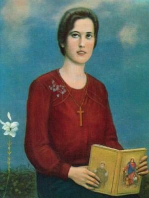 La Sierva de Dios Concetta Lombardo, virgen y mártir. Lienzo de Ferruccio Mataresi.