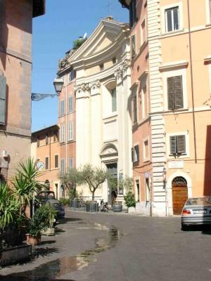Vista de la fachada del templo. Roma (Italia).