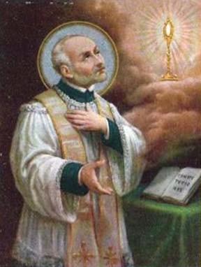 Estampa devocional de San Juan Leonardi