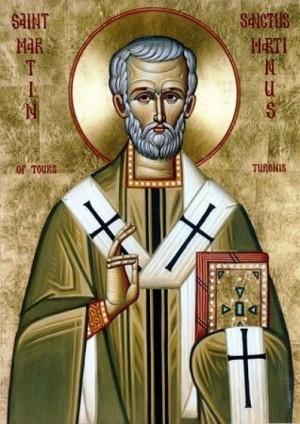 Icono ortodoxo anglolatino de San Martín de Tours.