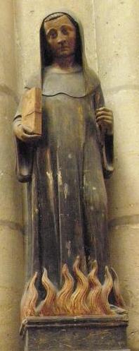 Talla gótica del Santo.