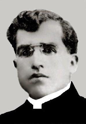 Fotografía del Santo en su juventud.