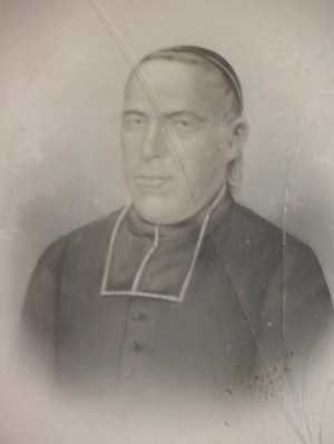 Retrato de San Augusto Chapdelaine en Boucey, Francia.