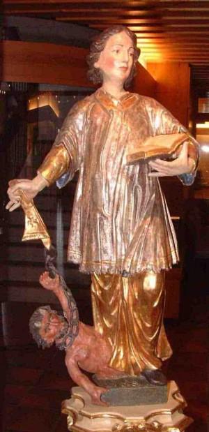 Escultura del Santo en Furtwangen, Selva Negra (Alemania).