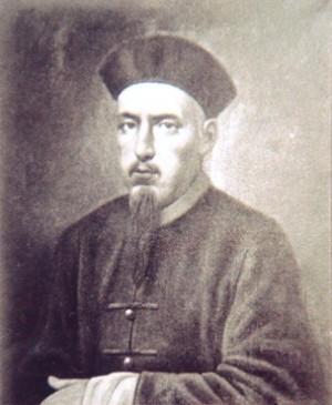 Retrato de San Augusto Chapdelaine en China, vestido a la usanza del lugar.