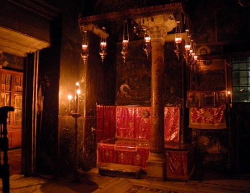 Tumba del santo en la Megisti Lavra.