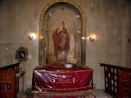 Reliquias de San Atanasio en la Catedral Patriarcal de El Cairo (Egipto).